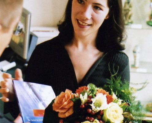 B2B Persönliche Werbung Blumenstrauss